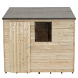 Forest 8x6ft Reverse Apex Overlap Pressure Treated Shed (Assembled)