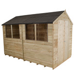 Forest 6x10ft Apex Overlap Pressure Treated Shed (Assembled)